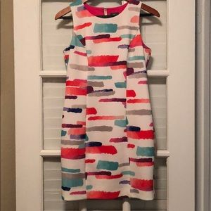 Vince Camuto sleeveless multi water color dress 4P